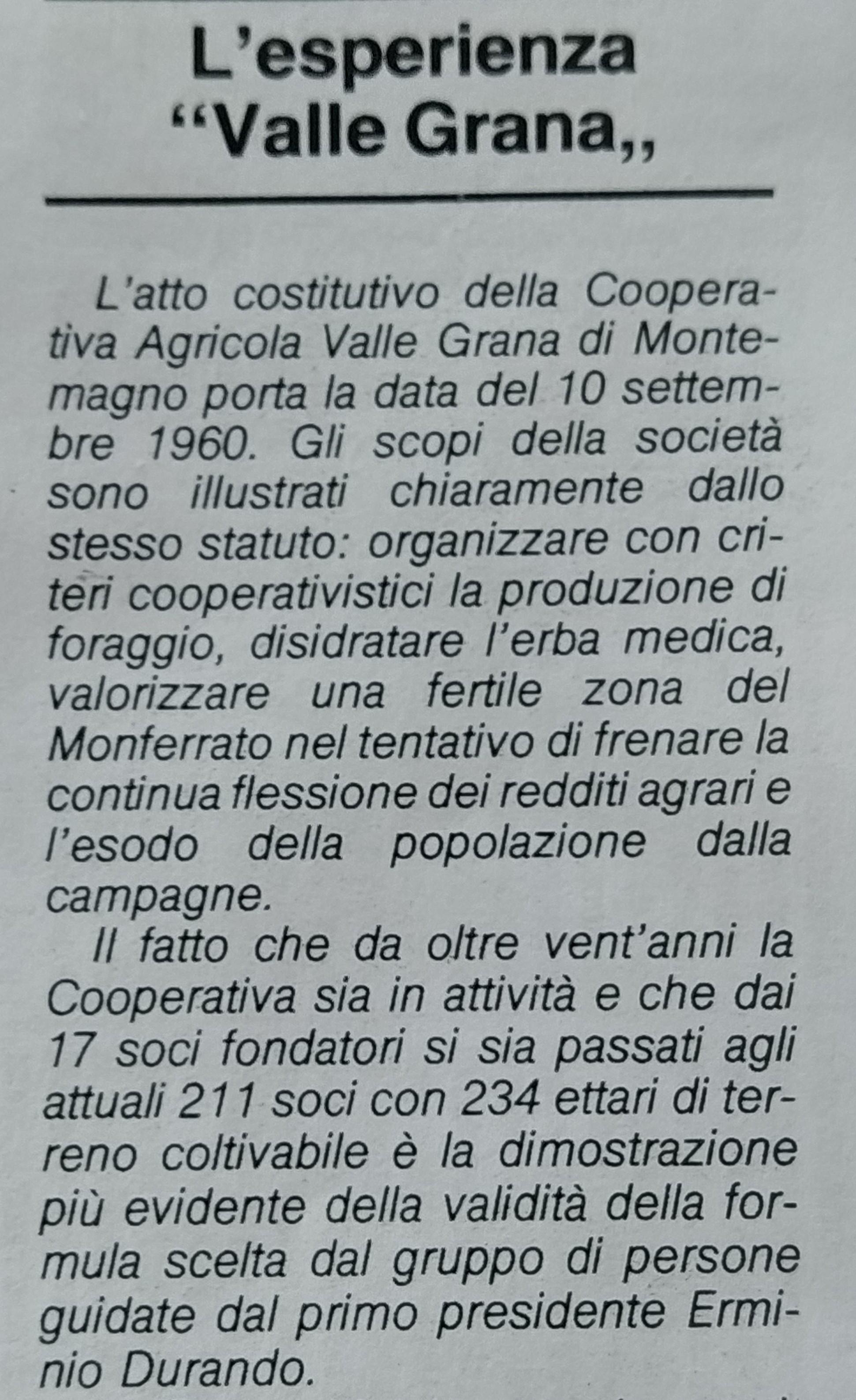 Coop VALLE GRANA CIPAM - 1 cut